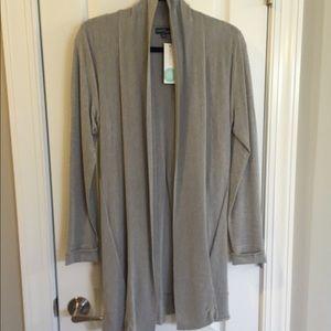 Market & Spruce Chrissy Grey Open Cardigan